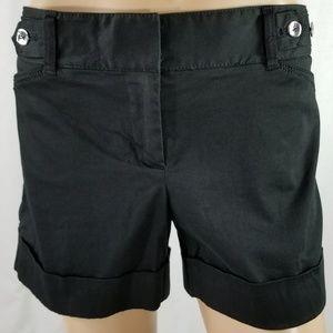 White House Black Market Cuffed Black Shorts